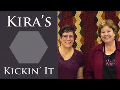 Kira's Kickin' It Quilt: Easy Quilting Tutorial with Jenny Doan of MSQC and Lynne Hagmeier - YouTube