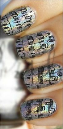 music nails wow check this out! the time it must have took to do this! Nails Only, Love Nails, How To Do Nails, Pretty Nails, Music Nails, Nail Tip Designs, Cute Nail Polish, Super Cute Nails, Different Nail Designs