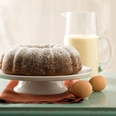 Eggnog Bundt Cake—A spiced holiday cake so moist and rich it needs no icing.