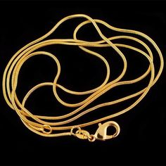 Necklaces & Pendants Lot Yellow Gold Plated Snake Chain Necklace For Pendant Jewelry Snake Necklace, Snake Jewelry, Simple Necklace, Diy Necklace, Necklace Chain, Dolphin Jewelry, Chain Pendants, Pendant Jewelry, Jewelry Necklaces