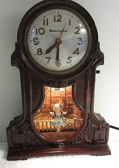 Vintage Mastercrafters Swinging Playmates Boy & Girl Clock ...