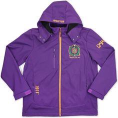 Big Boy Omega Psi Phi Divine 9 Heavy Duty Waterproof Mens Jacket [Purple - M] Omega Psi Phi, Fraternity, Big Boys, Motorcycle Jacket, Windbreaker, Blazer, Purple, Tees, Team Logo