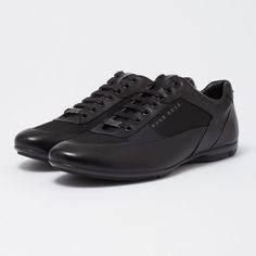 "6185087d8 Jocelyn's Men Boutique on Instagram: ""#hugobossshoes @jocelynsmenboutique"". Hugo  Boss ShoesAll Black Sneakers"