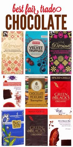 A little blog with the top 10 Best fair-trade chocolate bars