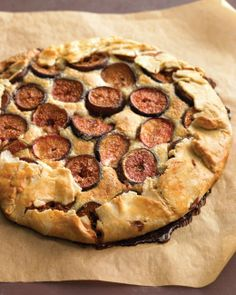 Fresh Fig and Almond Crostata A tender almond filling and a buttery crust, both quickly blended in the food processor, complement delectable figs. The crostata is especially good warm.
