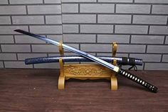 Samurai sword/katana/T10 high carbon steel blue blade/Sol... https://www.amazon.com/dp/B013G6W4WG/ref=cm_sw_r_pi_dp_DSLHxb1FYCDY4