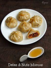 Priya's Versatile Recipes: Dates & Nuts Momos~~A Virtual Birthday Party For Shama