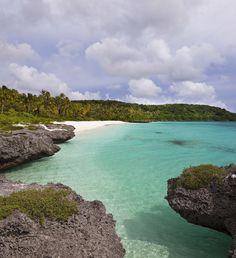 Peng beach in Lifou Island, New Caledonia
