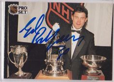 Ed Belfour autographed 1991-92 Pro Set #321
