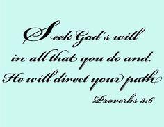 Vinyl Wall Art Bible Christian Proverbs 3-6