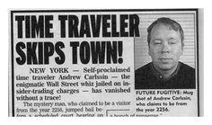 El extraño caso de Andrew Carlssin un viajero del tiempo del año 2256