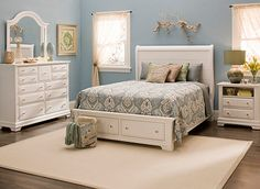Shop stylish Bedroom Sets at Raymour & Flanigan. Find the perfect Bedroom Set at a great price and have it home in 2 days or less with our Premium Delivery. White Bedroom Set, Bedroom Sets, Dream Bedroom, Bedroom Dressers, Bedroom Furniture, Painted Furniture, Furniture Ideas, Casual Bedroom, Bedroom Bed Design