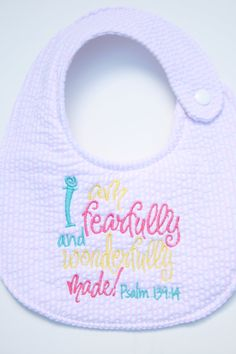 Bib, Baby shower gift, Christian. $15.00, via Etsy.