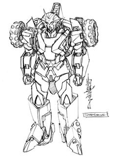 Direct from Alex Milne's Twitter account we got some very nice IDW Rom VS. Transformers: Shining Armor Character Design Sketches. Talented artist Alex Miln