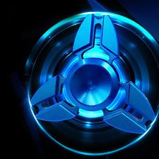 Hand Spinner EDC Deep Blue Fidget Toy Kirsite Desk Focus For Kid Adult Cool Blue