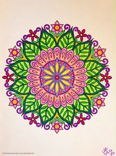 #designoriginals #flowermandalas colorbyleeannbreeding 3 9 16