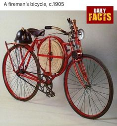"""redjeep: """" specialcar: """" fire bike """" a 1905 Fireman's Bicycle. Photo from the book """"Le Bicyclette"""" by Fermo Galbiati & Nino Ciravegna, (BE-MA Editrice,Chronicle Books) """" Old Bicycle, Old Bikes, Bicycle Shop, Velo Vintage, Vintage Bicycles, Tricycle, Velo Cargo, Cool Bicycles, Bicycle Design"""