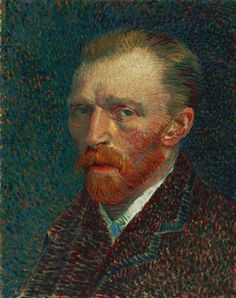 This is Van Gogh's self-portrait in the Art Institute of Chicago.  No photograph does justice to it because of it's marvelous texture and luminosity.  When I saw it in person, it literally brought tears to my eyes.