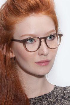 Prism | Taupe Acetate Eyeglasses | EyeBuyDirect | Fall Trends 2015  | Handmade Italian Acetate |