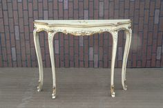 Gorgeous French Provincial Hallway Accent Console Table w cabriole legs #FrenchProvincial