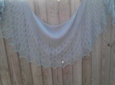 A trial run for a friend's wedding shawl. I knitted the large body and the extended lace section. It didn't take as long as the project dates . Wedding Shawl, Sewing Art, April Showers, Crochet Necklace, Fashion, Crochet Collar, Moda, Fashion Styles, Scarfs