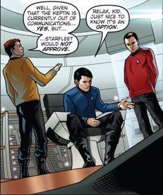 ...So Bones then flew the Enterprise back to Mississippi. The End. Watch Star Trek, New Star Trek, Star Wars, Star Trek Bones, Spock And Kirk, Star Trek Original Series, The Final Frontier, Star Trek Enterprise, Live Long