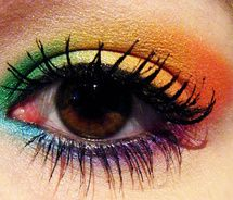 awesome! I don't know the right occasion for this kind of makeup but it's pretty! <-- me being a hippie for Halloween. Will go with my colorful costume. ;)