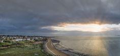 Mersea Island Sunrise - Aerial Panorama