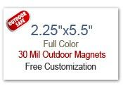 """2.25x5.5 Custom Magnets 