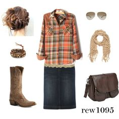 """Fall"" by rew1095 on Polyvore. Love everything but the hair."