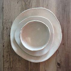 Ceramic dinner plates White dinnerware plates by BlueDoorCeramics