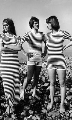 Tasaraita ja trikoo tulivat kuvioihin vuonna 1968. Kuvassa alusvaatteita vuodelta 1974. Copyright: Lehtikuva. Kuva: handout.