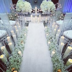 Photo: Sometimes candles really can add the perfect glow to your wedding aisle!! by Wink Design and Events