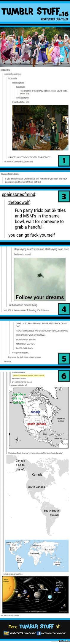 Tumblr stuff. I agree with the ending where someone said this post was a bit out of control. haha
