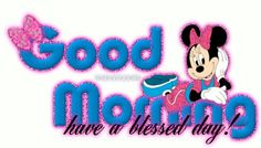 Good morning minnie mouse graphics cliparts