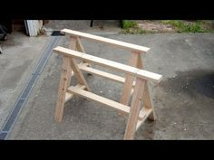 Build a pair of simple sawhorses from 2x4's and deck screws - quick and easy first project to get you building other stuff
