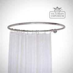 Round Shower Curtain Track