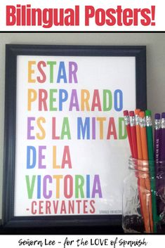 Spanish Poster - Be Prepared - Spanish Classroom Decor