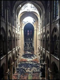 Notre Dame Cathedral: See photos of roof fire damage, debris inside the historic Paris church Paris Match, Saint Louis, Gothic Architecture, Kirchen, Our Lady, Catholic, Louvre, History, Instagram