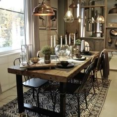 Table, Kitchen Inspirations, Green Table, Home Decor, House Interior, Wood Dining Table, Dining, Dining Table, Home Deco