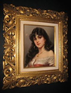 KPM Porcelain Plaque ~ Origin Germany ~ Circa 1880
