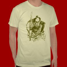 Shop Samurai warlord T-Shirt created by Personalize it with photos & text or purchase as is! Tattoo T Shirts, Samurai, Fitness Models, Tees, Casual, Sleeves, Mens Tops, Cotton, How To Wear