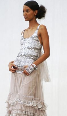 Lyia Kebede in Chanel Haute couture 2004