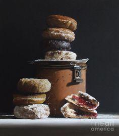 Олово с пончики Живопись
