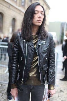 Paris Men's Fashion Week street style. [Photo by Kuba Dabrowski]---jacket <3