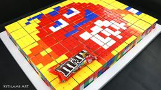 How to Draw M&Ms. I show you how to draw the Red M&M character with Rubik's Cubes. Drawing M&M characters is part of a series of Rubik's Cube Art and Rubik's. M&m Characters, 8 Bit Art, Speed Art, Candy Art, Rubik's Cube, Crayon Art, Color Pencil Art, Marker Art, Art Challenge
