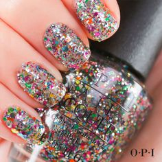 Let your mani take center stage with @OPI Products Chasing Rainbows from the Spotlight on Glitter Collection. #OPIGlitter