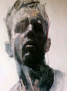 Artist: Ryan Hewett, mixed media {contemporary figurative expressionist male head grunge man face portrait painting detail in progress} Abstract Portrait, Portrait Art, Portrait Paintings, Art Paintings, Figure Painting, Painting & Drawing, Figure Drawing, Pastel Drawing, Painting Abstract