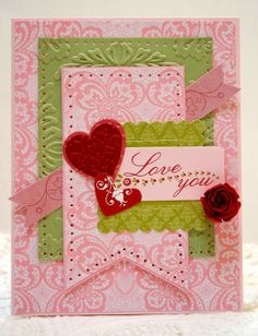 Valentine with retired paper and scrapping kit