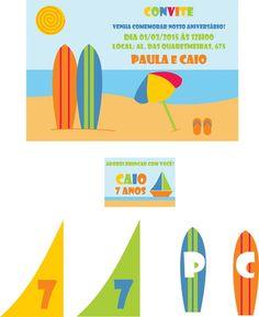 Kit festa Praia   Verão - digital